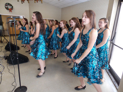 Kutztown High School Show Choir performs for residents at Kutztown Manor. Patriot photos by Lisa Mitchell