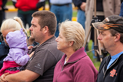 Judy Romig, L/CPL Larry D. Hoch's sister, and family. Patriot photos by Roxanne Richardson