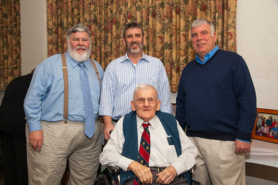 Patriot photos by Roxanne Richardson Lester Hoch, 100, with his sons, left to right, Daniel, Kenneth, and Franklin.