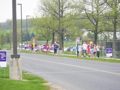 Photos by Shea Singley. Relay Field Day program at Hamburg Area Middle School.
