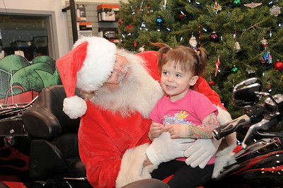 As much as she tries, two year-old Brylee Koncz cannot thing of even one time that she was naughty this year!  Nesquehoning, PA