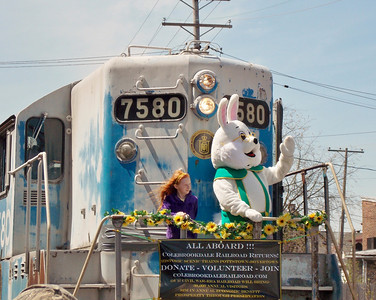The Easter Bunny arrived at Boyertown's  Coming Out of Hibernation on Saturday, April 19.
