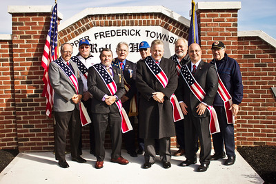 Photo by Brittany Salerno On Monday, Nov. 11, Upper Frederick Township held a ceremony for their new Honor Role Monument dedicated to veterans of all conflicts.