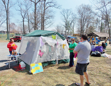 The butterfly tent at Earthfest.