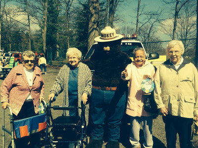 Submitted photo Residents of Walnut Woods at the Boyertown Community Park for Earthfest on Saturday, April 16.