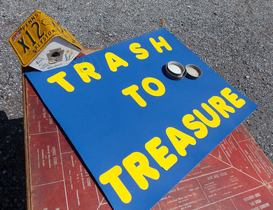 New to the celebration this year: the Trash to Treasure contest organized by Kevin Zimmers.