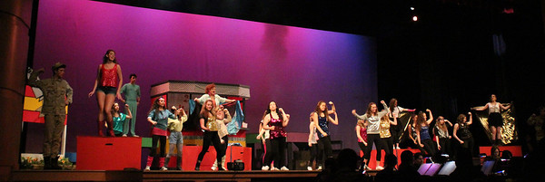 """Exeter Township Senior High School cuts """"Footloose"""" with their production April 10, 11, 12."""